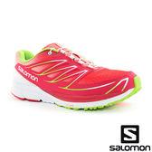 【SALOMON 法國】SENSE MANTRA 3 女 慢跑鞋『蓮花粉紅/祖母綠』多功能鞋.健行鞋 376632