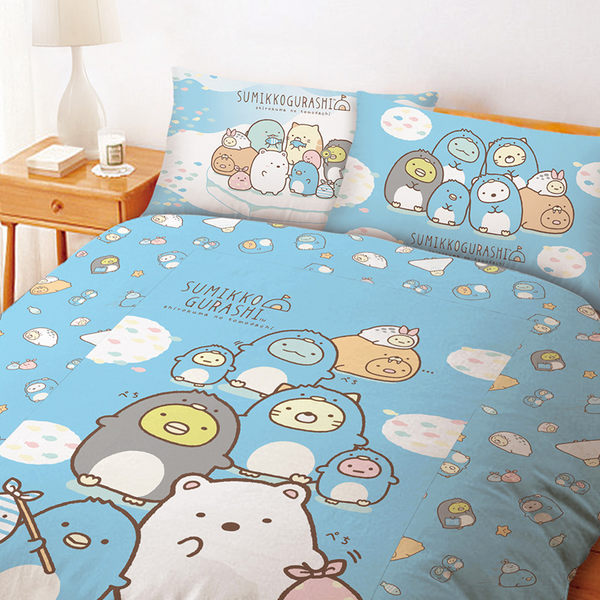 床包被套組 / 雙人加大【角落生物冰原歷險】含兩件枕套  高密度磨毛  戀家小舖台灣製ABF312