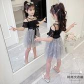 女童連身裙童裝蓬蓬紗裙子兒童公主裙【時尚大衣櫥】