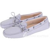 TOD'S Gommino 經典綁帶休閒豆豆鞋(女鞋/淺紫色) 1820081-78