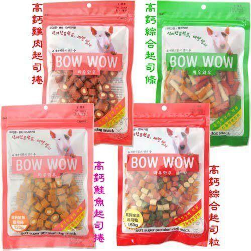 【培菓幸福寵物專營店】Bow Wow韓國高鈣起司條_四種口味
