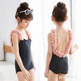 韓版女童泳衣可愛寶寶嬰兒小公主女童連體泳裝游泳衣 QX2078【棉花糖伊人】