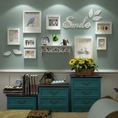創意小鳥牆貼相框組合小牆面實木照片牆相框牆客廳掛牆xw