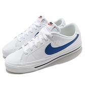 Nike 休閒鞋 Court Legacy 白 藍 運動鞋 小白鞋 基本款 【ACS】 CU4150-101