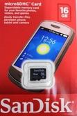 Sandisk 16G 記憶卡 micro SDHC 16GB Card