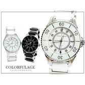 崁入滿鑽陶瓷錶帶 范倫鐵諾Valentino手錶 柒彩年代【NE305】原廠公司貨