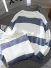 毛衣很仙的秋冬毛衣慵懶風寬鬆外穿韓版學生高領套頭軟奶藍針織衫女潮 聖誕交換禮物