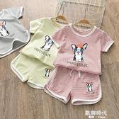 兒童短袖套裝夏季男童半袖童裝嬰兒衣服女童短褲寶寶T恤 歐韓時代