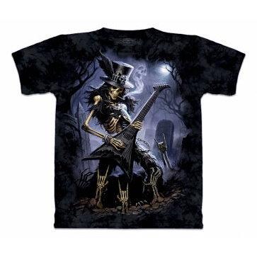 『摩達客』 (預購) 美國進口【The Mountain】自然純棉系列 骷髏吉他手 設計T恤(1049051022a)