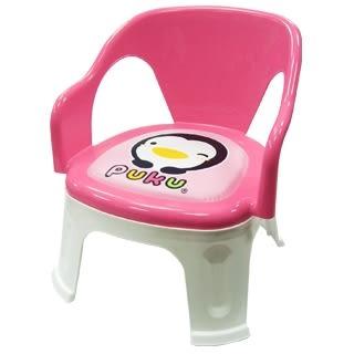 藍色企鵝 PUKU 快樂兒童椅 (藍/粉)