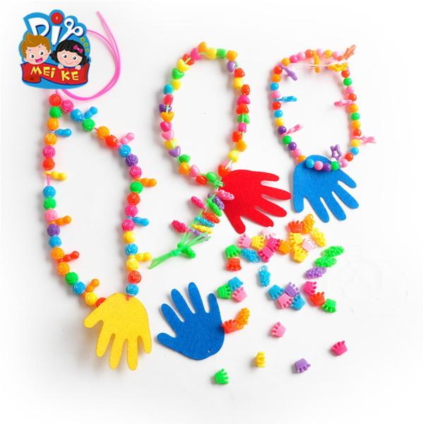 母親節創意手鏈串珠美可幼兒園手工製作DIY材料兒童手工節日禮物─預購CH5123