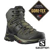 【SALOMON 法國】男 QUEST 4 GTX高筒登山鞋『橄欖綠/泥炭黑/灰褐』41292500 多功能鞋.GORE-TEX
