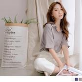 《AB6475-》涼感純色柔軟排釦簡約短袖襯衫 OB嚴選