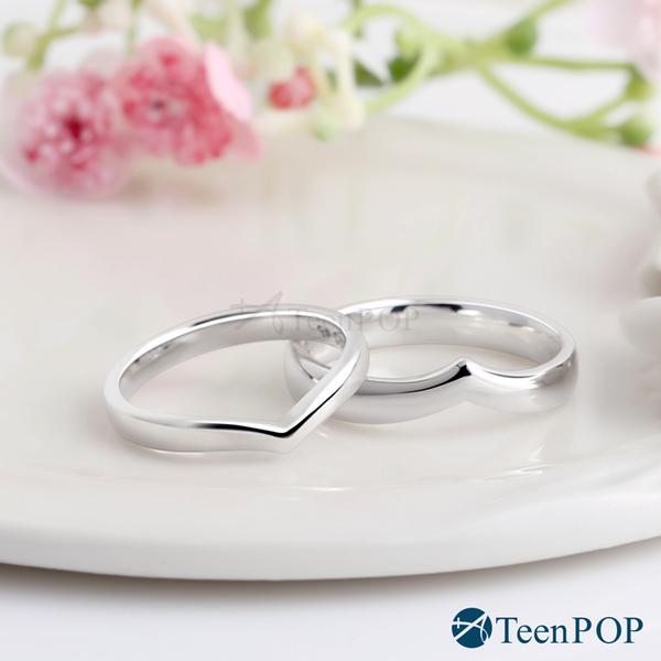 情侶對戒 ATeenPOP 925純銀戒指 沉醉愛戀 送刻字 單個價格 情人節禮物