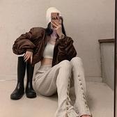 棒球服 短款外套女秋冬百搭2021新款設計感炸街時尚寬鬆復古棒球服上衣潮 童趣屋  新品