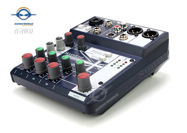 【音響世界】英國Soundcraft 新款Notepad系列之5 軌精巧型USB混音器》公司貨
