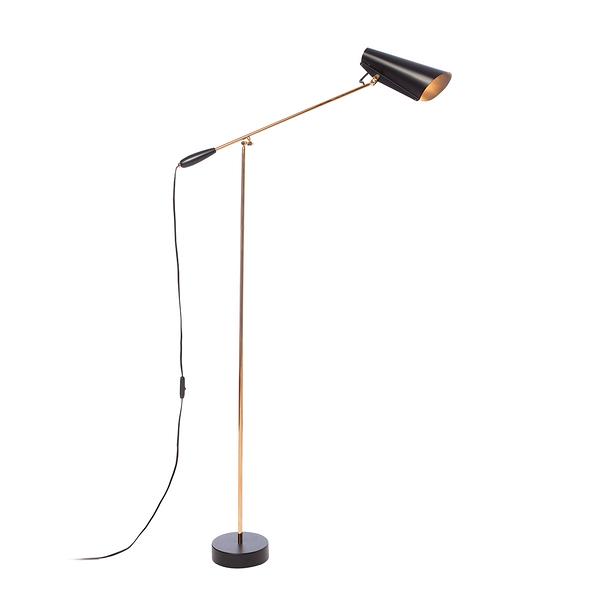 挪威 Northern Birdy Floor Lamp 博蒂系列 懸臂 立燈(黑色款 - 黃銅支架)