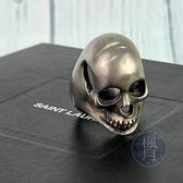 BRAND楓月 Saint Laurent 聖羅蘭 YSL 骷髏頭 造型 925純銀 戒指 配件 飾品 #10
