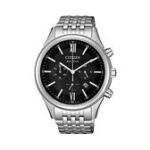 【Citizen星辰】GENT'S光動能時尚三眼計時紳士腕錶-質感黑/CA4410-84E/台灣總代理公司貨享兩年保固