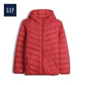 Gap男童保暖拉鏈絎縫連帽羽絨衣480041-正紅色