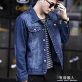 新款男士牛仔外套男韓版修身春季寬鬆夾克學生上衣帥氣潮流褂 完美情人館