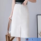 半身裙中長款2020新款春夏a字裙時尚職業氣質開叉包臀高腰一步裙 3C數位百貨