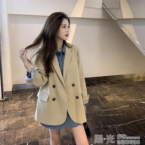 2020秋季新款英倫風炸街高級感時尚氣質中長款網紅小西裝外套女 陽光好物