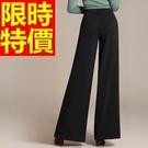 寬管長褲別緻-走秀款秋冬美麗時髦女褲子61f11【巴黎精品】