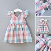 女童裙子新款韓版格子洋氣1洋裝2歲女寶寶公主裙小童裝夏裝 【korea時尚記】