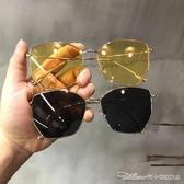 墨鏡韓國網紅同款墨鏡不規則方框太陽鏡男女眼鏡潮流旅遊海灘眼鏡 阿卡娜