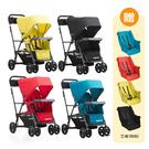 【贈第二座椅】Joovy Caboose Ultralight Graphite 新款輕量級雙人推車【佳兒園婦幼館】