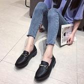 冬季加絨小皮鞋2020新款平底一腳蹬豆豆鞋黑色工作鞋英倫風女單鞋 【端午節特惠】