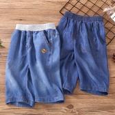 男童牛仔短褲夏季薄款外穿七分褲兒童純棉中褲韓版中大童工裝褲子