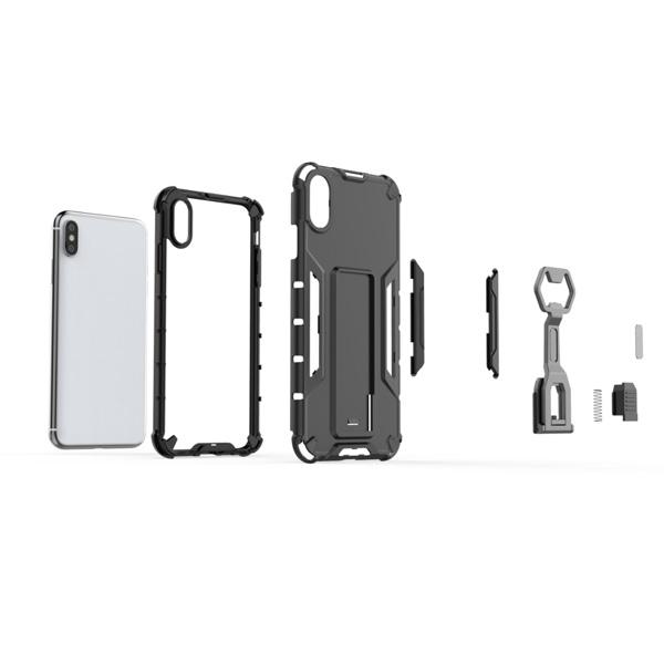 蘋果 iphone xs max xr ix i8 plus i7+ XS SE 機械手臂 手機殼 全包邊 支架 防摔 保護殼
