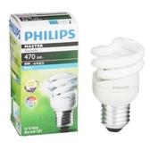 Philips 飛利浦 T2 螺旋省電燈泡8W白光【愛買】