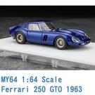 現貨 MY64 SCM 1/64 法拉利 Ferrari 250 GTO 1962 金屬藍 MY6401K