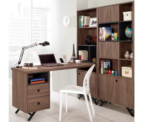 書桌 L型書桌 MK-362-12 約克5尺L型二抽書桌【大眾家居舘】