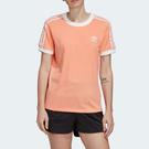J-adidas 3-Stripes Tee 女款 三葉草 短袖 三線 粉橘色 基本 休閒 運動 舒適 透氣 FM3320