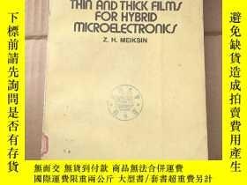 二手書博民逛書店thin罕見and thick films for hybrid microelectronics(P878)