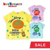 蘇打汽水點點造型短袖T恤 HOT BISCUITS【MIKIHOUSE】72-5212-959