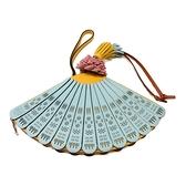 LOEWE 羅威 拚色牛皮扇子包 Fan Clutch Bag【二手名牌BRAND OFF】