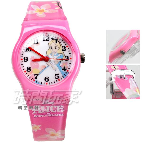 Disney 迪士尼 卡通手錶 愛麗絲夢遊仙境 兒童手錶 數字 女錶 粉紅色 D愛麗絲粉小A