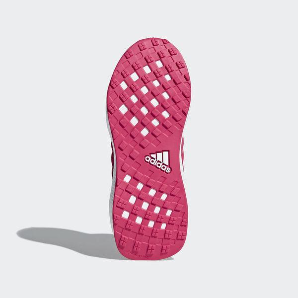 ADIDAS RAPIDARUN 女鞋 大童 慢跑 休閒 輕量 粉紅 白【運動世界】CQ0148