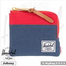 Herschel 皮夾 / 零錢包  Johnny-018 紅/深藍  經典拉鍊零錢包 MyBag得意時袋