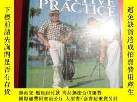 二手書博民逛書店POSITIVE罕見PRACTICE 《高爾夫積極訓練 》布面精