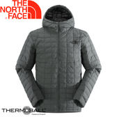 【The North Face 男款 ThermoBall保暖兜帽外套 電路箱灰雜紋】C938/兜帽夾克/大衣/風衣★滿額送