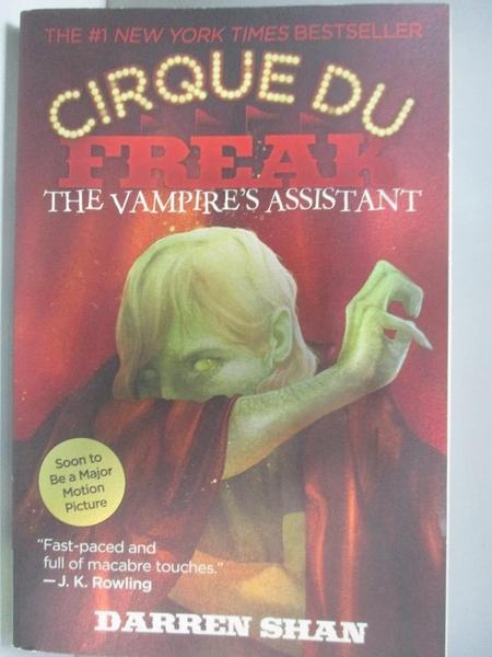 【書寶二手書T1/原文小說_AL6】The Vampire s Assistant (Cirque du Freak, Book 2)_Shan, Darren