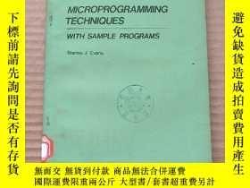 二手書博民逛書店microprogramming罕見techniques with sample programs(P725)