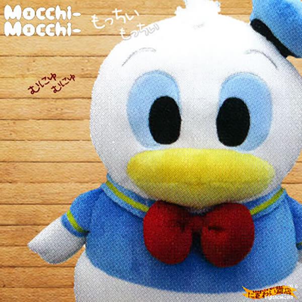 Hamee 日本 迪士尼 Mocchi Mocchi 細緻絨毛 療癒娃娃 玩偶抱枕靠墊 (唐老鴨) TA24726