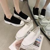 單鞋女2021年新款春季樂福鞋女平底透氣小白鞋網紅懶人鞋韓版休閒 夏季新品